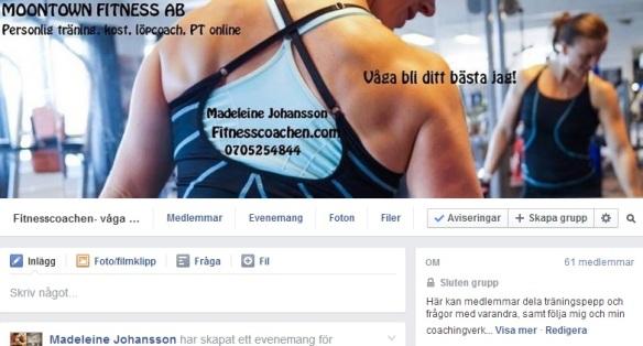 Fitnesscoachen på facebook