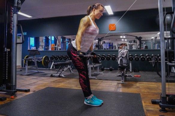 Raka pushdown med stång